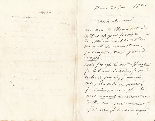 Eugène Labiche, lettre autographe signée