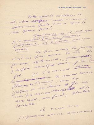 Roland Dorgelès lettre autographe signée
