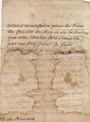 Anne Jules de Noailles lettre autographe signée