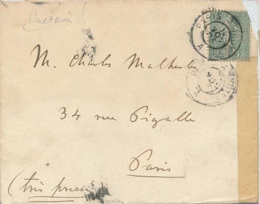 Roffredo Caetani lettre autographe signée