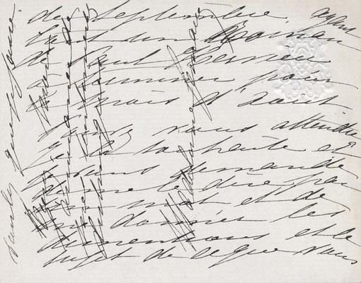Madeleine LEMAIRE (1845-1928) carte autographe signée peintre CD Galerie achat vente