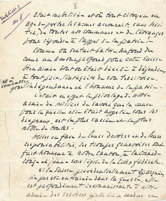 Gustave Ador manuscrit autographe