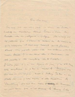 Pierre Dominique lettre autographe signée