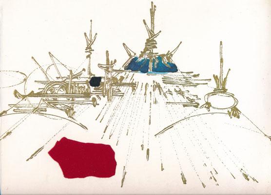 Georges MATHIEU (1921-2012), peintre envoi autographe signé lyrique
