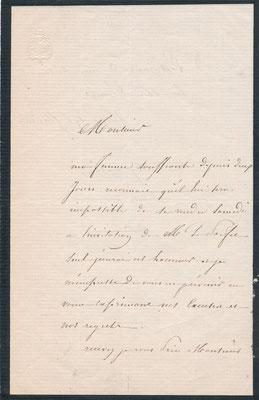 Flandrin lettre autographe signée