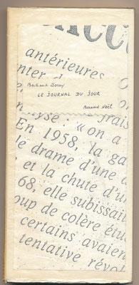 Bernard Noël manuscrit autographe signé Bertrand DORNY