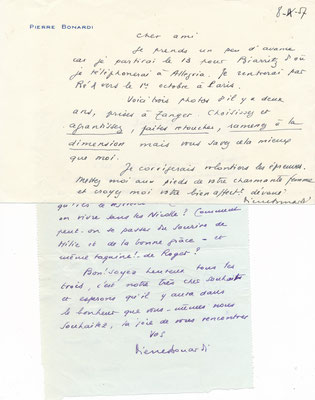 Pierre Bonardi lettre autographe signée