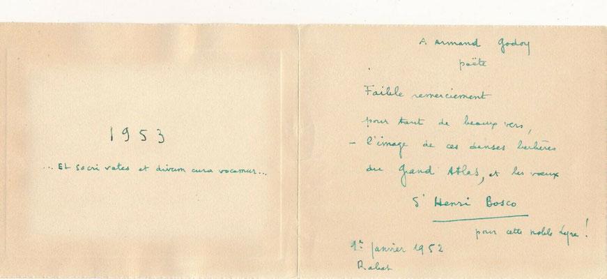 Henri Bosco lettre autographe signée
