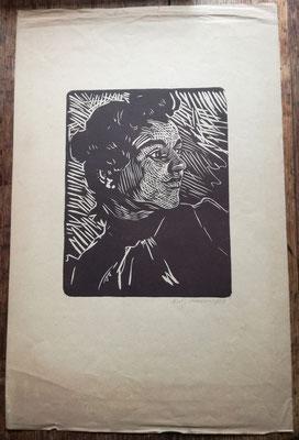 Antonio Zumino Gravure sur bois signée et datée à la mine de crayon, 1913