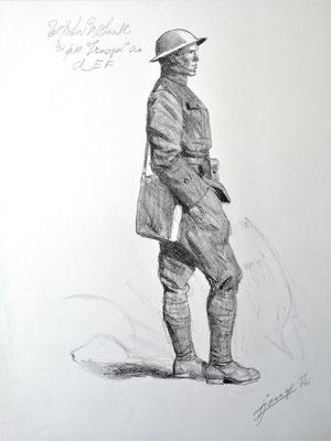Avec la 1re division américaine sur le front Lucien Jonas lithographie soldat américain
