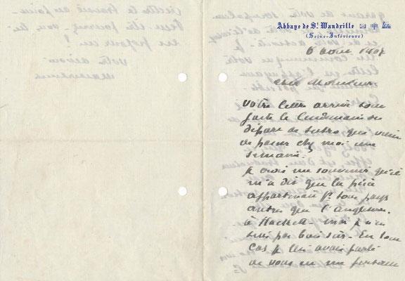 Maurice MAETERLINCK lettre autographe signée