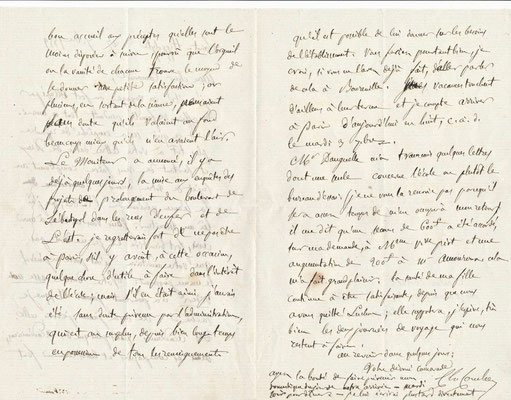 Charles Combes lettre autographe signée