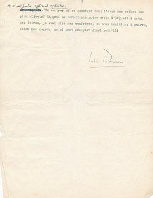 Jules Romains manuscrit signé