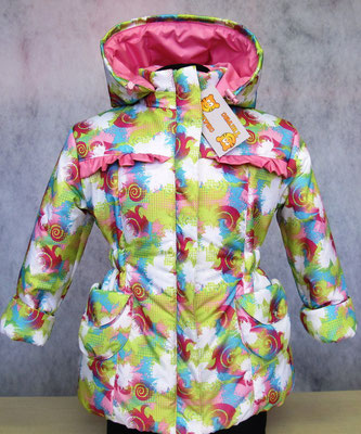 Пальто демисезонное  мод354 разм. 28/98-104; 30/110-116 ткань арт.1124