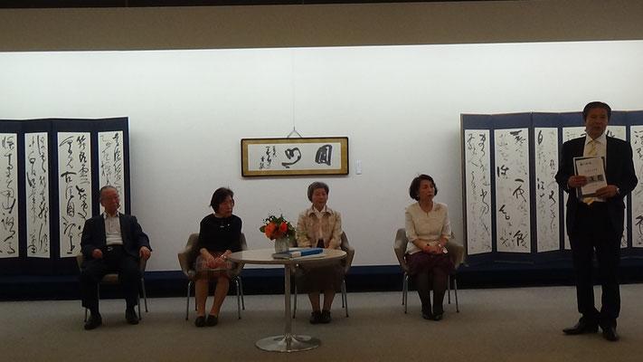 坂口天月・伊藤和青・野村笛草・片芝青邦・川嶋毛古(左から)
