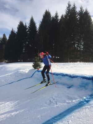 Lorenz Heinzelmann beim Training (Nordic-Cross)