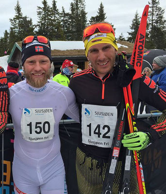 Andi Katz und Martin Johnsrud Sundby  (NOR) / Sjusjoen/Nor April 2017