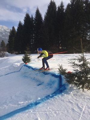 Julian Sahner beim Training (Nordic-Cross)