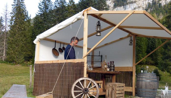 Tente/Stand Baker - Les Chemins de Traverse - Location tentes