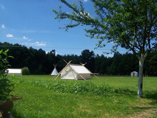 Décor Tente Trappeur - Tentes Western