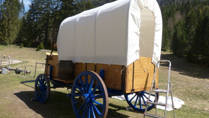 Décor Chariot Western - Chuck Wagon - Tentes Western