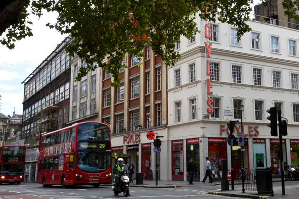 FOYLES bookshop. Charing Cross Road, London, UK