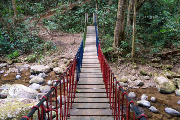 Brücke an den Sanje Falls