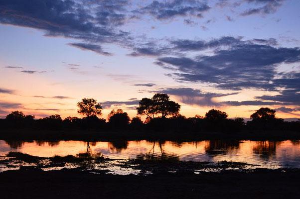Sonnenuntergang Botswana Safari