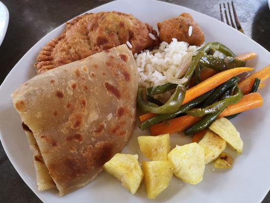 veganes Mittagessen in Tansania