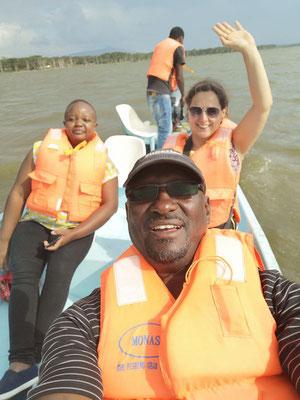 Bootsfahrt auf dem Lake Naivasha, Kenia Safari