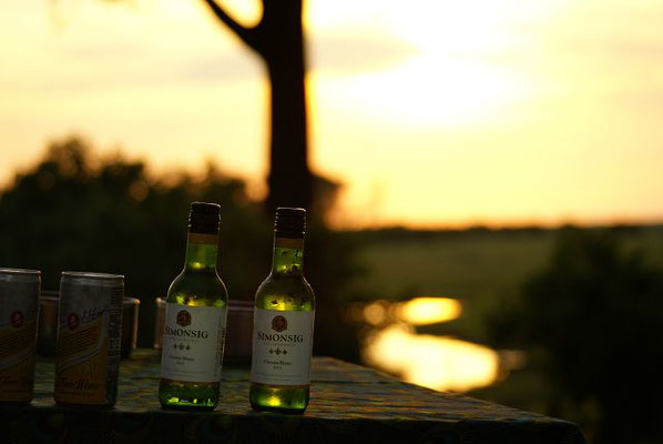 Sundowner Drink Botswana Safari