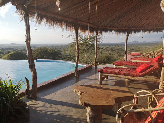 Aussicht Massai Lodge Tansania Safari