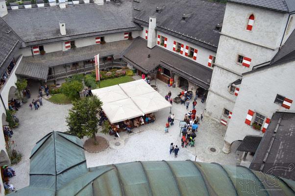 Der Innenhof der Burg Hohenwerfen