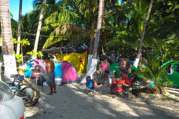Der Campingplatz hat sich über die Feiertage gefüllt