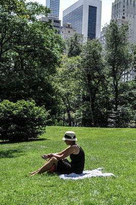 Lesen im Central Park