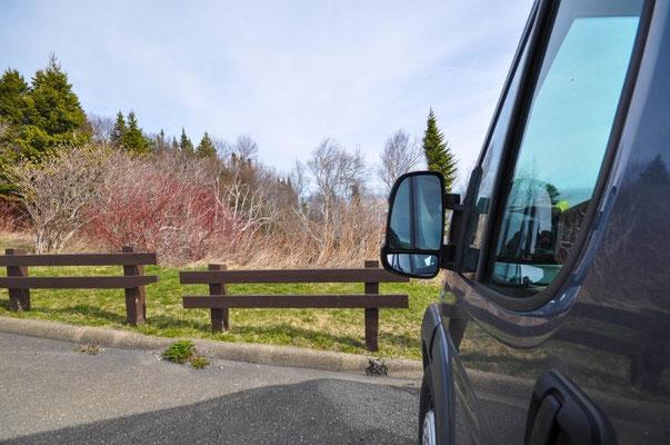 Gestern habe ich das Foto leider vergessen zum Machen (Parc de Gaspésie), dies ist auf einem Rastplatz in der Nähe von Grande-Vallée