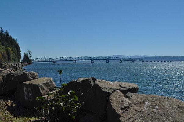 Brücke von Washington nach Oregon