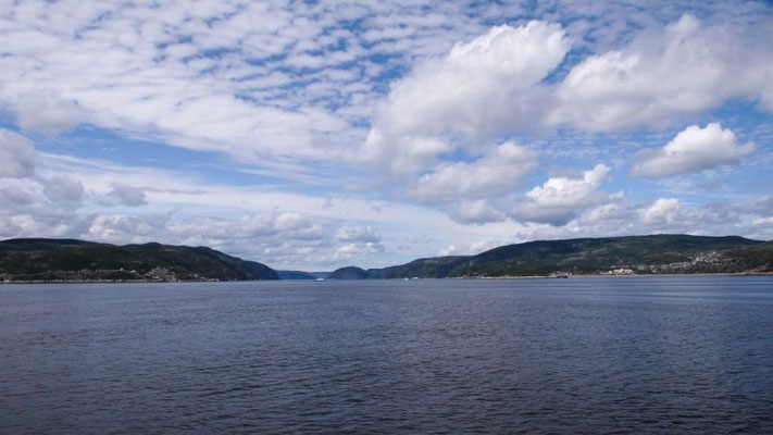Fahrt Richtung Fjord