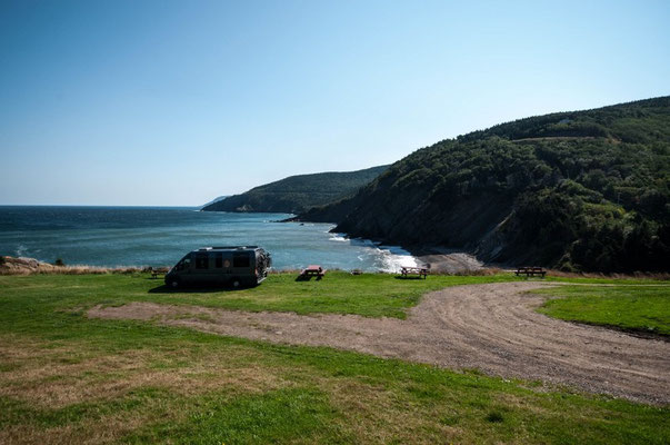 Campingplatz in Meat Cove