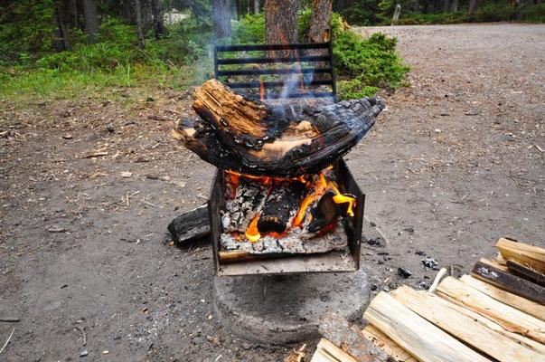 Wiedermal gönnen wir uns ein schönes Lagerfeuer