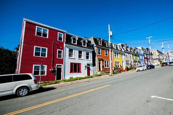 Hübsche, bunte Häuser
