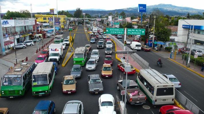 Verkehr in dieser Riesenstadt
