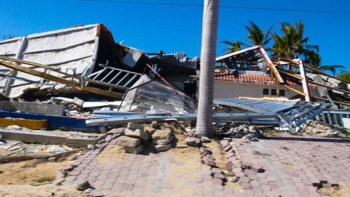 Schäden nach dem Hurricane