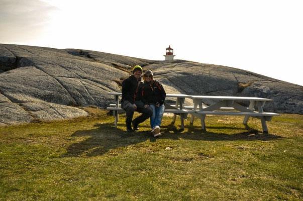 Das am ersten Montag in Halifax haben wir vergessen, darum hier dieses stellvertretend dafür - Mittwoch's in Peggy's Cove