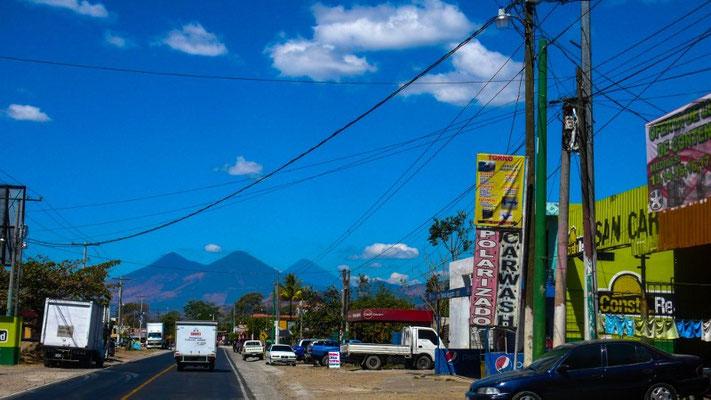Die Vulkane von Guatemala sieht man immer