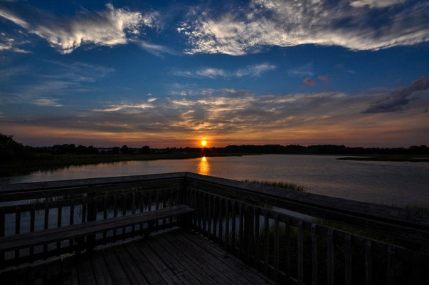 Wiederum ein schöner Sonnenuntergang in North Myrtle Beach