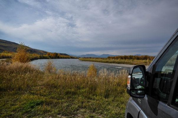 Ausserhalb von Jackson, am Snake River