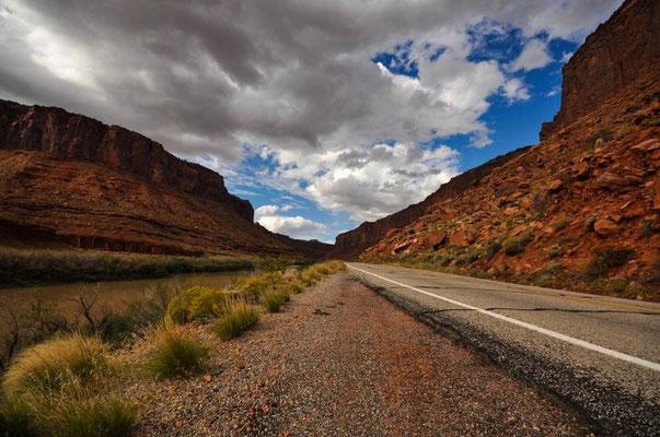 Schöne Fahrt Richtung Moab