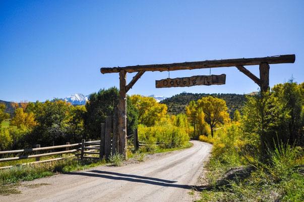 Eingang zur Ranch von Ralph Lauren
