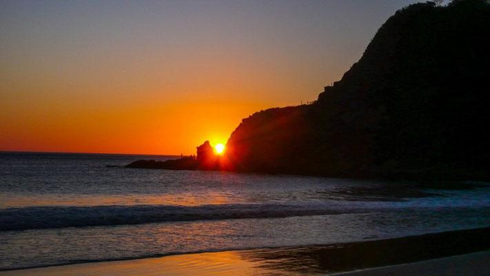 Aber wir werden mit einem herrlichen Sonnenuntergang entschädigt